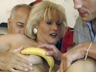 mature german golden-haired gets double fucked
