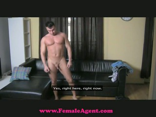femaleagent - cheeky casting chap gets dominated
